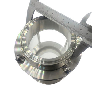 """Image 3 - WZJG New 3"""" Tri Clamp Type Flow Sight Glass Diopter For Homebrew Diary Product Stainless Steel SS304 Ferrule OD 91mm"""