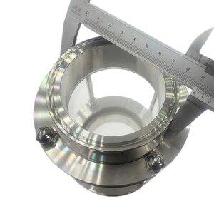 """Image 3 - WZJG yeni 3 """"üçlü kelepçe geçme burç tipi akış gözetleme camı diyoptri Homebrew için süt ürünü paslanmaz çelik SS304 yüksük OD 91mm"""