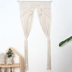 80x150cm Wall Hanging  Macrame Curtain Bohemian Handwoven Tapestry Perfect Door Curtain Macrame For Bedroom Wedding Decoration
