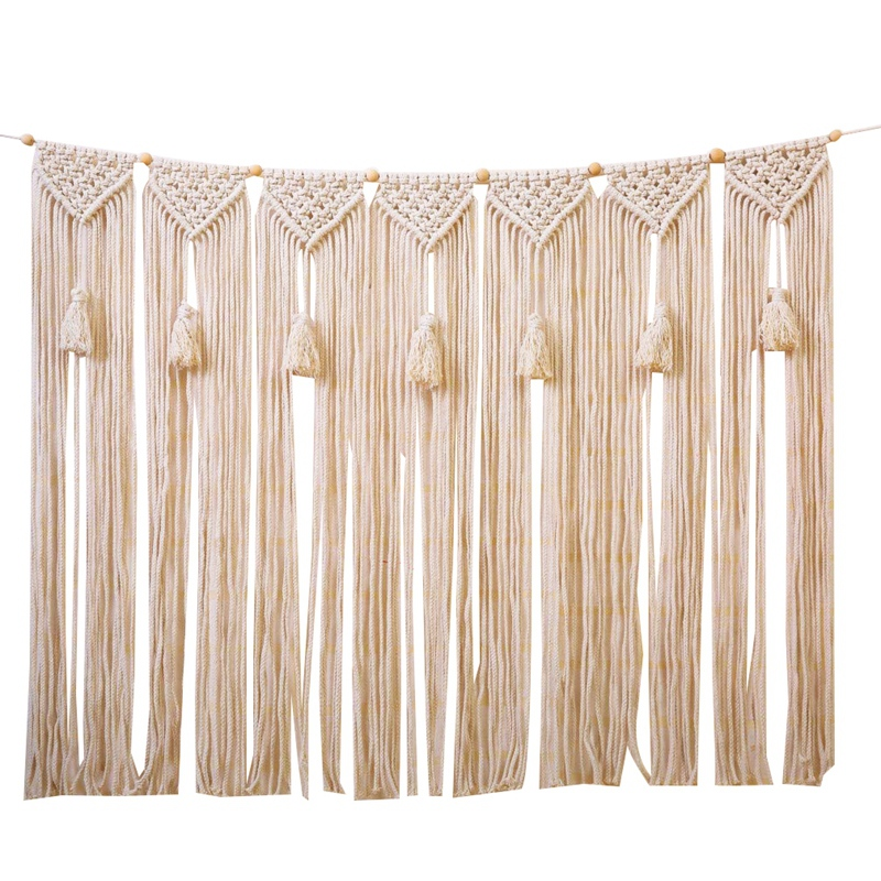 Macrame Wall Hanging Wall Tapestry Large Bohemian Wall Decoration For Wedding Backdrop Curtain Fringe Garland Banner Bedroom Liv