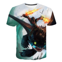 3D Print T shirt Boys Tees Boys Girls Tops children T Shirt Boys t shirt Summer Kids T-shirt How To Train Your Dragon  Cartoon