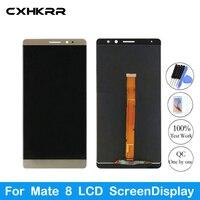 100% test ohne flecken perfekte display  Neue original Für Huawei Mate 8 LCD ScreenDisplay-in Handy-LCDs aus Handys & Telekommunikation bei