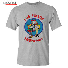 Mens Fashion Breaking Bad Shirt 2019 LOS POLLOS Hermanos T Chicken Brothers Short Sleeve Tee Hipster Hot Sale Tops