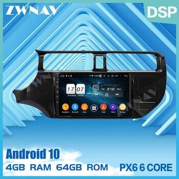 2 din PX6 IPS сенсорный экран Android 10,0 автомобильный мультимедийный плеер для KIA RIO K3 2012 2014 автомобильный аудио Радио Стерео GPS navi головное устройст