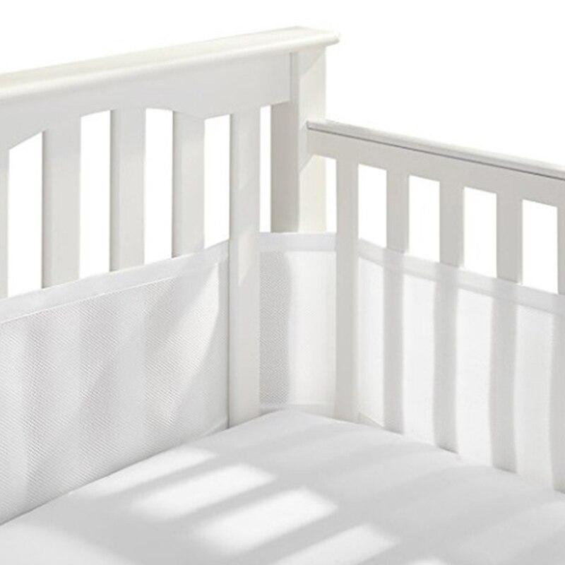 Baby Kindergarten Atmungsaktive Baby Bett Stoßstange einteiliges Krippe Um Kissen Bett Protector Kissen Neugeborene Room Decor Polyester Solide