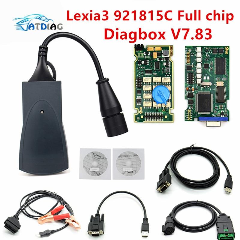 Lexia3 V48/V25, 3 Chip completo, Diagbox más reciente, V7.83, PP2000, Lexia-3, Firmware 921815C