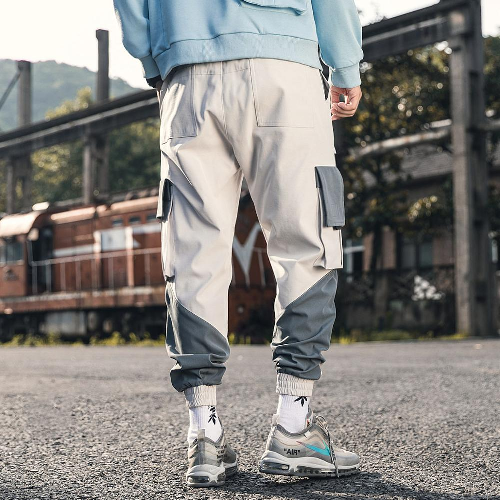 iiDossan 2020 Multi Pockets Cargo Pants Men Patchwork Pants Casual Joggers Women Harajuku Streetwear Trousers Hip Hop Overalls