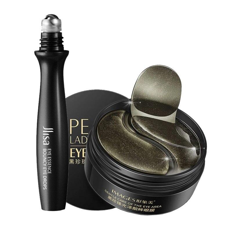 Black Pearl Eye patches Natural Moisturizing Gel Collagen Eyes Masks Remove Dark Circles Anti Age Bag Wrinkle 60PCS Skin Care M-4