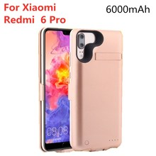 6000mAh External Battery Power Box for Redmi 6 Spare Mobile Power Charging Box for Xiaomi Redmi 6 Pro Battery Charger Case