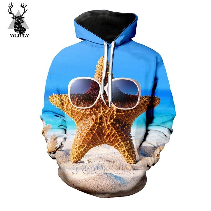 New Summer Beach Starfish T Shirt Fashion Men's Sets 3D Print  Funny T-Shirts/hoodie/Sweatshirt Hip Hop O-neck Streetwear Top 05