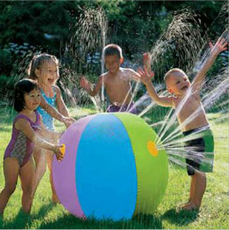 Inflatable Water Spray Ball Sprinkler Splash Kids Beach Outdoor Summer Toy Hot Selling Baby Water Balloons 3year+ 75cm Diameter