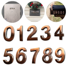 10Pcs 0 to 9 Self Adhesive Door House Numbers Address Plaques for Residence Mailbox Signs _WK