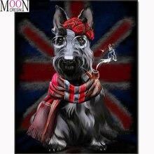 Алмазная живопись 5d «сделай сам» собака с шарфом мозаика полная