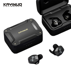 KAYINUO 9D Stereo TWS Bluetooth Earphones 5.0 Waterproof Noise Reduction Headsets Wireless Sport Earbuds With Mic charging Case