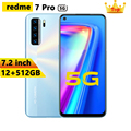 Global version 7.2HD inch Mobile phones redme 7 5G version 16+32MP 12+512GB android smartphone 10-core Face ID cellphoen