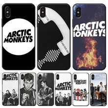 Arctic monkeys Rock en roll Band Cover voor iPhone X XS MAX XR 7 8 6 6S plus 5S SE Clear Zachte Siliconen Telefoon Case(China)