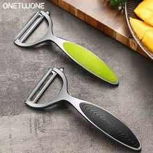 1/2 peças de aço inoxidável frutas e legumes descascador multifuncional cenoura batata frutas peelers cozinha gadget