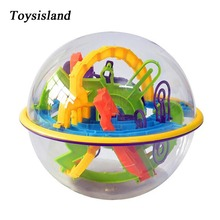 100-158 Step 3D Magic Intellect Maze Game Ball Puzzle Balance Logic Ability Educational Toys for Children
