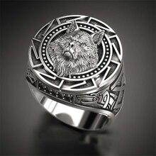 Модное популярное Ретро волк Тотем мифология викингов воин голова