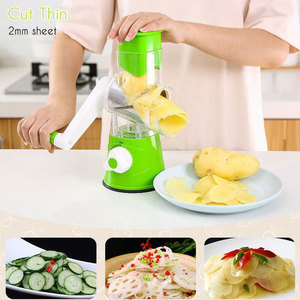Image 3 - 3 in 1 Multifunction Vegetable Cutter Kitchen Round Mandolin Manual Potato Cheese Slicer Screwdriver Cooking Utensil Accessories