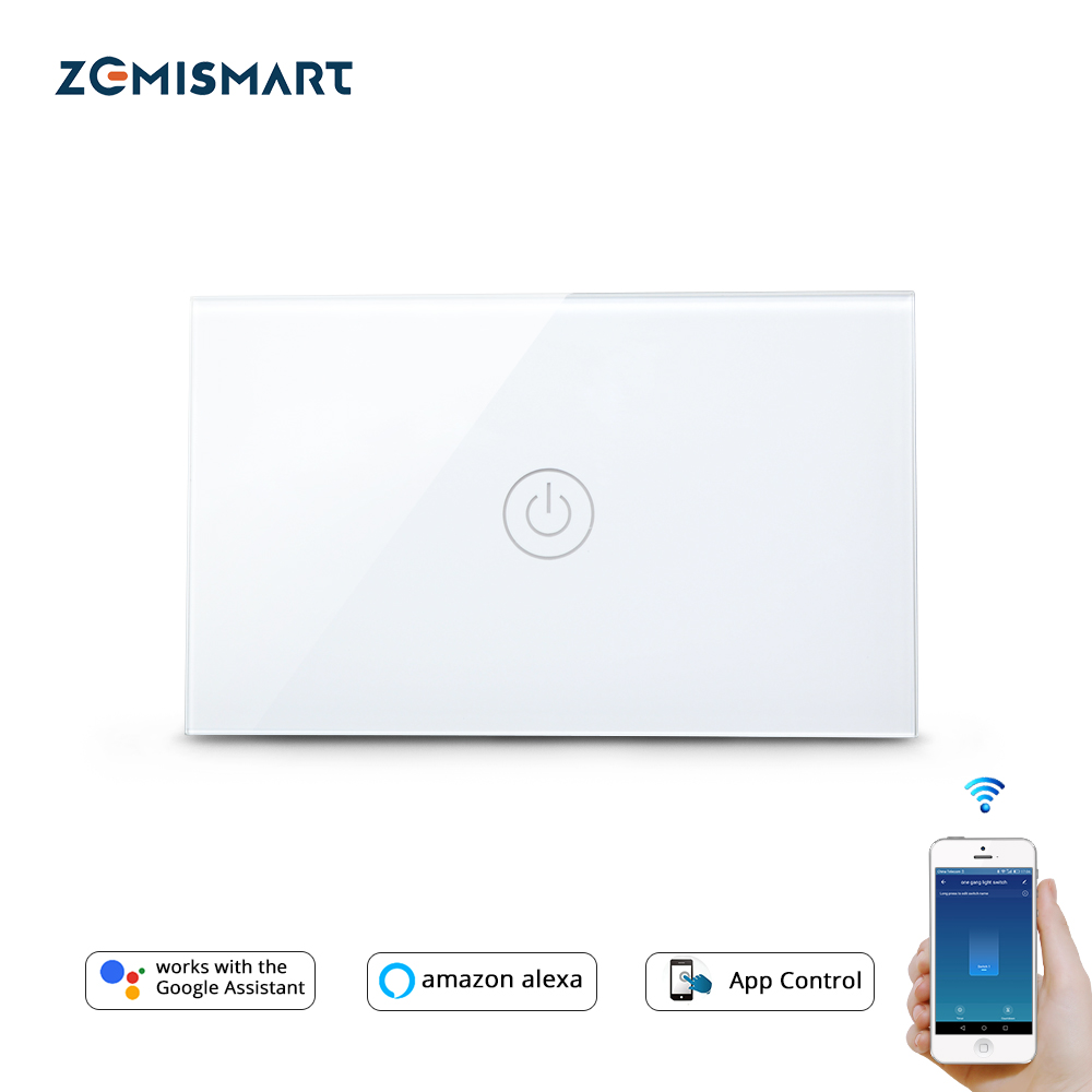 Zemismart US Tuya WiFi Light Switch No Neutral Wire 1 2 3 Gang  Alexa Google Home Assistant Smart Life Control 110V to 240V