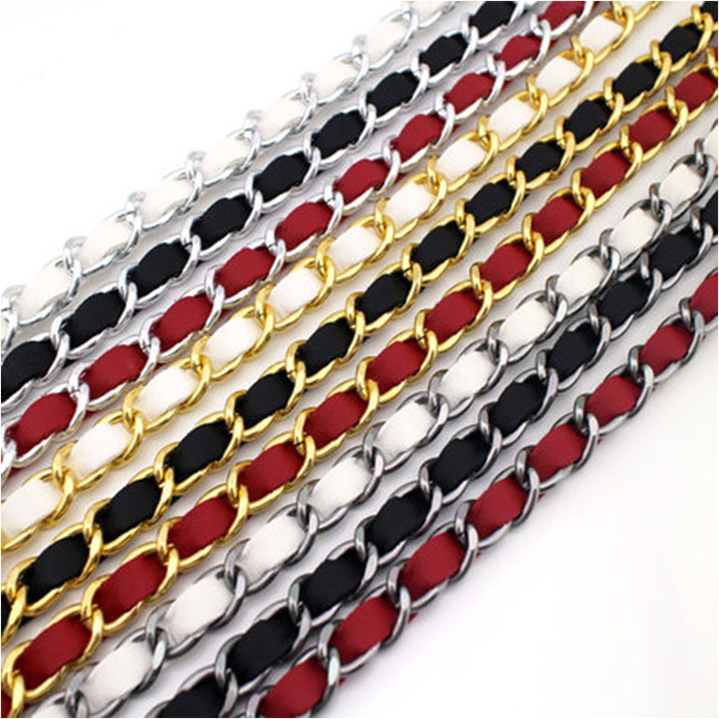 High Quality 50cm 120cm Bag Chain Repalcement Shoulder Bag Strap PU Leather Long Belts Handbag Chain Strap Bands Bag Accessories