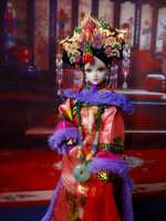 """12 """"Bambole da collezione Cinese Vintage Dinastia Qing Principessa Oriental Dolls BJD Giocattoli Della Bambola Della Ragazza Di Natale Regali Di Compleanno"""