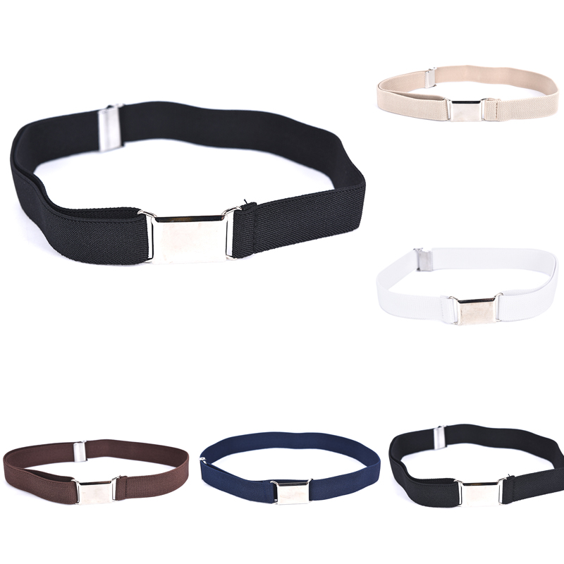 1PCS Boys Girls Elastic Belt Children Kids Adjustable Solid Color Unisex Canvas Belts