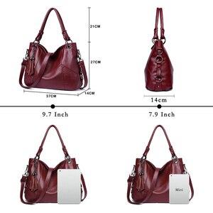 Image 3 - Bolso de mano de cuero para mujer, bandolera de diseñador para mujer, Bolsa femenina, bolsos de hombro, 2020