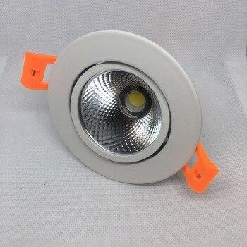 12pc/lot 7w High Shade Led Spot Light Downlights Energy Saving With Excellent Heatsink High Brightness Epistar 5years Warranty