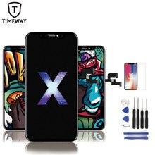OLED iPhone X için XSMAX XR ile LCD OEM 3D dokunmatik Digitizer meclisi yok ölü piksel LCD ekran değiştirme ekran iPhoneX LCD için