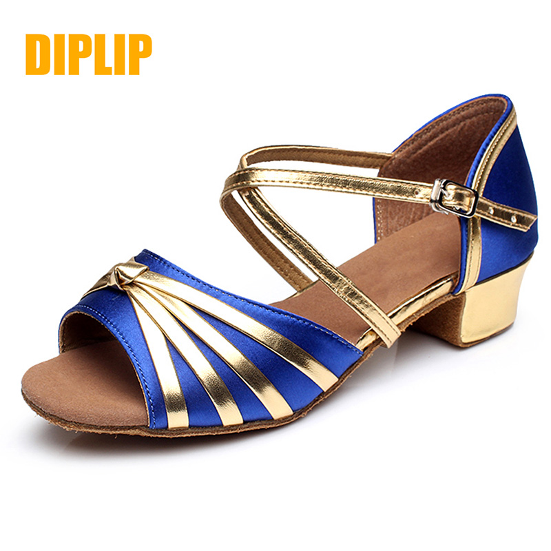 DIPLIP hot new girl Latin dance shoes children's national standard tango shoes children's dance shoes girls shoes salsa