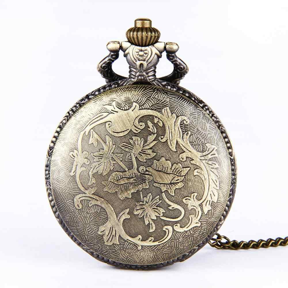 Grande cadeia de bronze gravura caso fino Indiano e Americano padrão de trem relógio de bolso do vintage