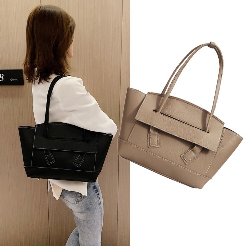 Luxury Women Handbags Trapeze Tote Bag For Women 2019 Fashion Shoulder Bags Ladies Pu Leather Designer Work Bags Dress