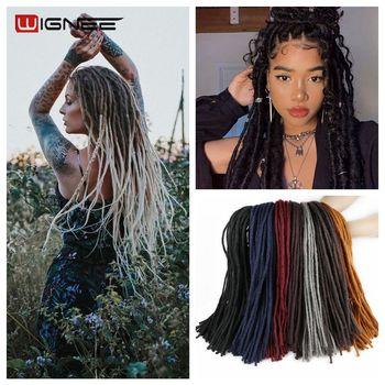 Wignee Synthetische Haar Extensions Dreadlock Weiches Haar 25 Wurzeln Lange Bunte Häkeln Twist Flechten Stück Perücken Für Schwarze Frauen