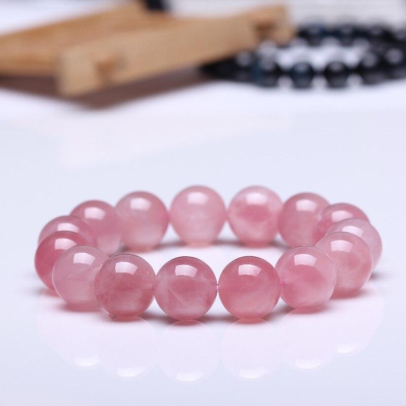Bijoux accessoires bijoux de mode Bracelets cristaux roses naturels cadeau Quartz pierre naturelle Bracelet extensible cordon élastique