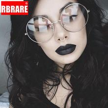 Oversized Clear Round Glasses Silver Metal Frame Vintage Sexy Circle Brand Designer Huge Big Nerd Eyeglasses Women