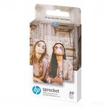 HP Sprocket Zink papel fotográfico con respaldo pegajoso, 2x3 pulgadas, 20 hojas