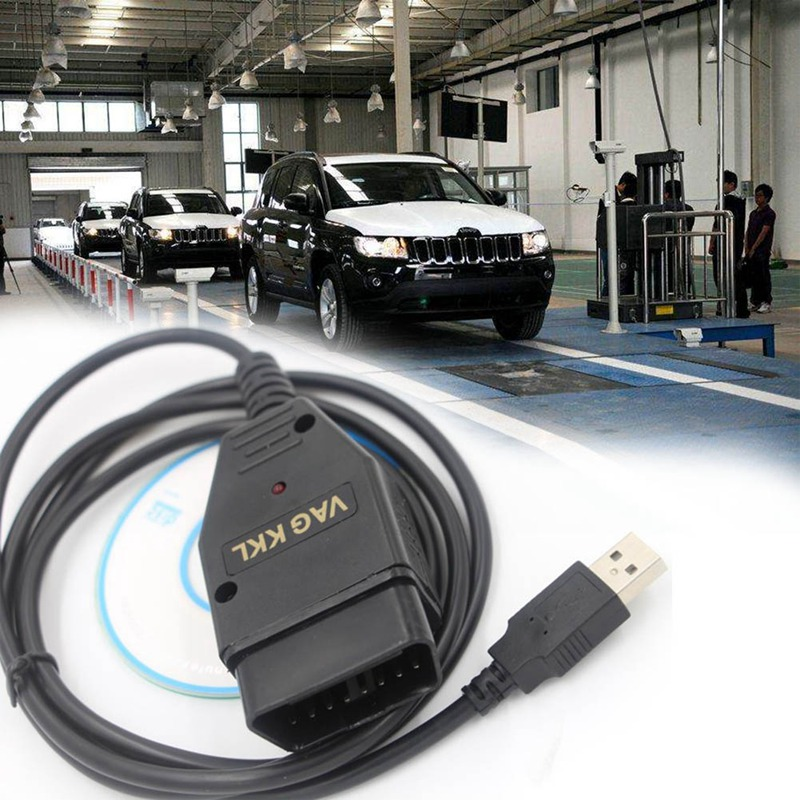 Universial Auto Diagnostic Tool USB Cable KKL VAG-COM 409.1 OBD2 Diagnostic Scanner Car Accessary