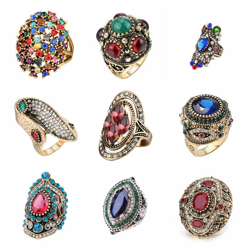 Send out in 24 hours!!! ALL Lowest Price Snake Rings For Women Gold Color Black Heavy Metals Punk Rock Ring Vintage Jewelry