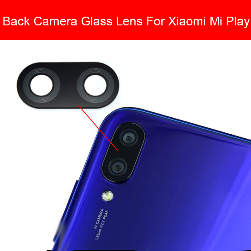Back Camera Glass Lens Cover For Xiaomi Mi Play MiPlay Rear Main Camera Glass Lens Camera Glass Lens Replacement Parts Repair