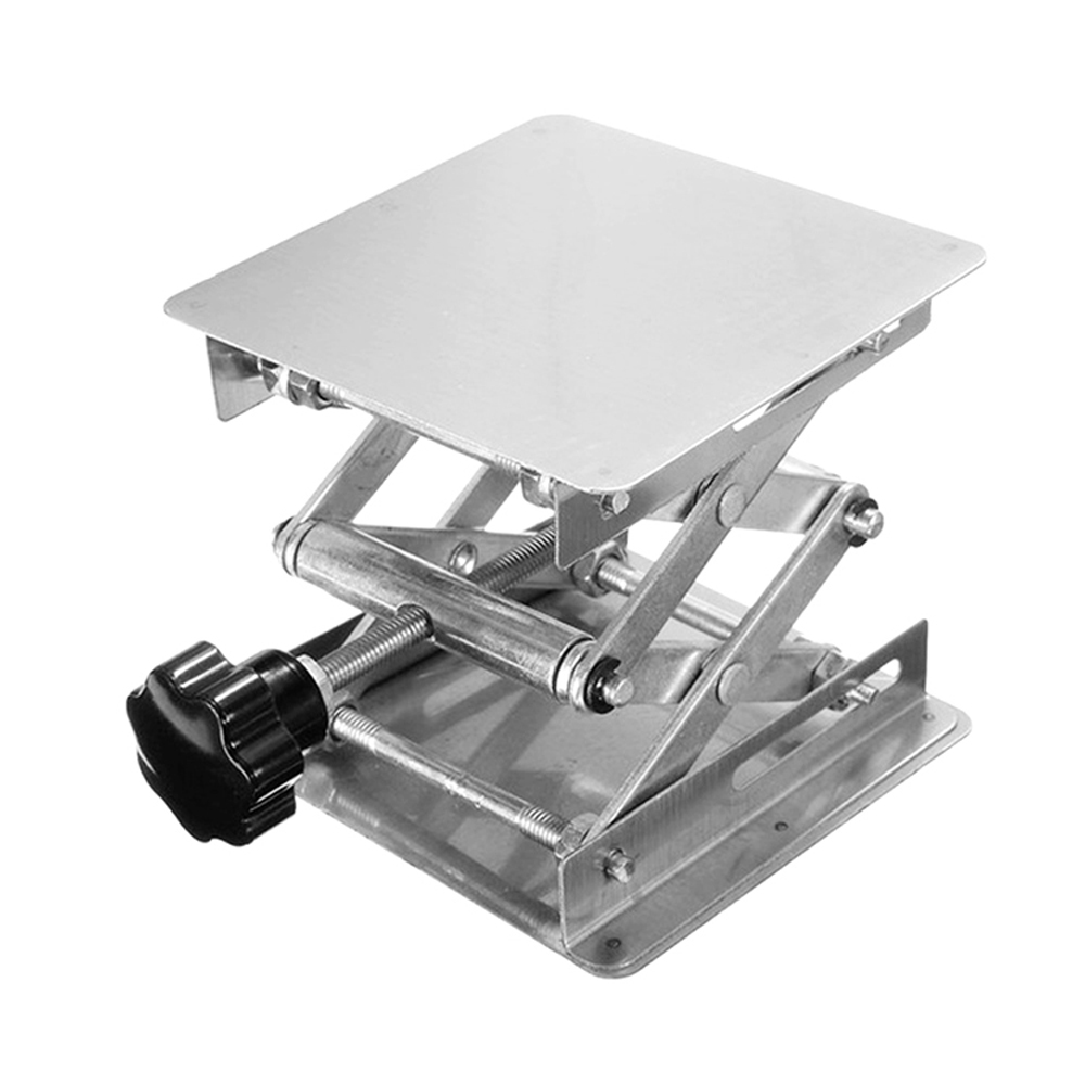 Stainless Steel Mini Stable Lab Stand Manual Lift Riser Lifter Laboratory Lifting Platform
