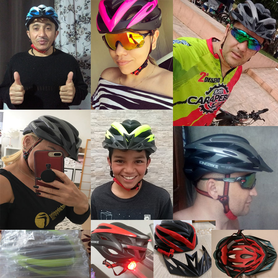 Image 3 - KINGBIKE HOT Bicycle Helmet Men Women MTB Road Cycling Helmets Ultralight Integrally molded EPS+PC Bike helmet Capacete Ciclismo-in Bicycle Helmet from Sports & Entertainment