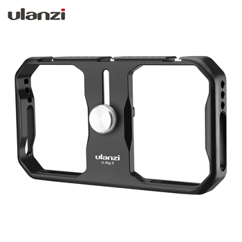 Ulanzi U-Rig II Metal Video Cage for Smartphone Filmmaking Case with Cold Shoe Slots Stabilizer Hand Grip Tripod Mount for Phone