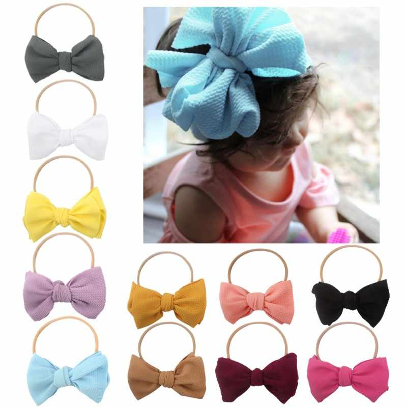 New Cute Baby Soft Hairband Bowknot Headwear Girl Hair Accessories Elastic Band Photo props Baby gift