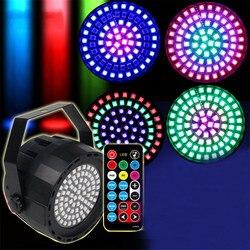 Thrisdar RGBW 78LED światło stroboskopowe światło sceniczne z pilotem zdalnego DMX512 aktywowana głosem Bar do klubu na imprezę Disco stroboskopowe lampa sceniczna