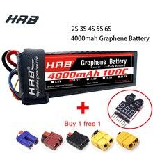 HRB RC Lipo батарея 2S 3S 4S 5S 6S 4000mah графеновая батарея 7,4 V 11,1 V 14,8 V 18,5 V 22,2 V XT90 для RC Monster trucks автомобилей дронов