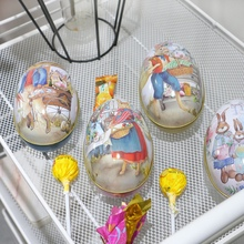 Easter Day Sunday Eggs Can Open Eggshell Iron Rabbit Egg Gifts Candy Box Tinplat