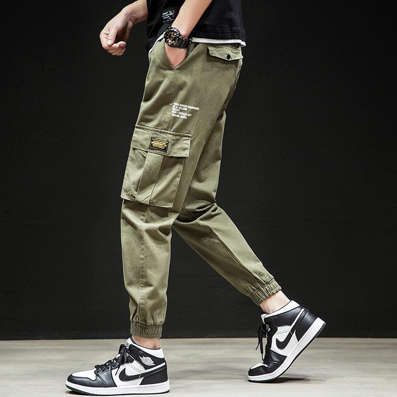 2019 MEN'S Casual Pants Bib Overall Multi-pockets Fashion Skinny Men's Trousers Teenager Korean-style Slim Fit Long Pants Fashio