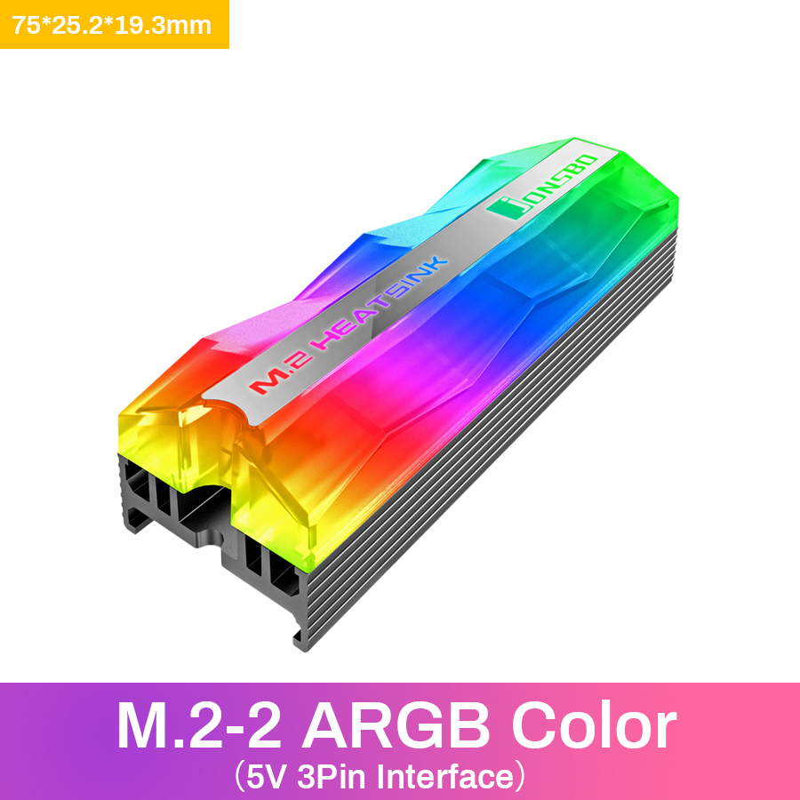 Jonsbo SSD Heatsink Cooler NVME NGFF M.2 2280 Solid State Hard Disk Radiator Heat Sink Passive Heat Dissipation Aluminum Cooling